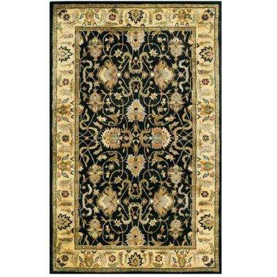 Rochelle Black 5 ft. x 8 ft. Area Rug