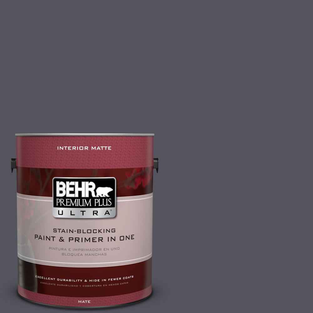 1 gal. #N540-7 Coal Mine Matte Interior Paint