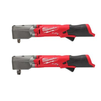 M12 FUEL 12-Volt Lithium-Ion Brushless Cordless 3/8 in. and 1/2 in. Right Angle Impact Wrenches Set (2-Tool)