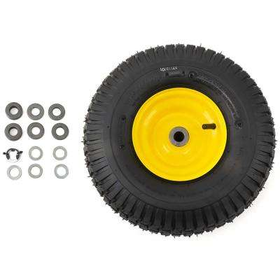 15 in. x 6 in. Front Wheel Assembly with Turf Saver Tread for John Deere Riding Lawn Mowers
