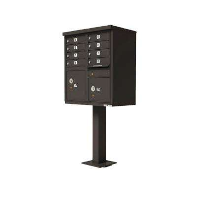 Vital Series Dark Bronze CBU with 8-Mailboxes, 1-Outgoing Mail Compartment, 2-Parcel Lockers