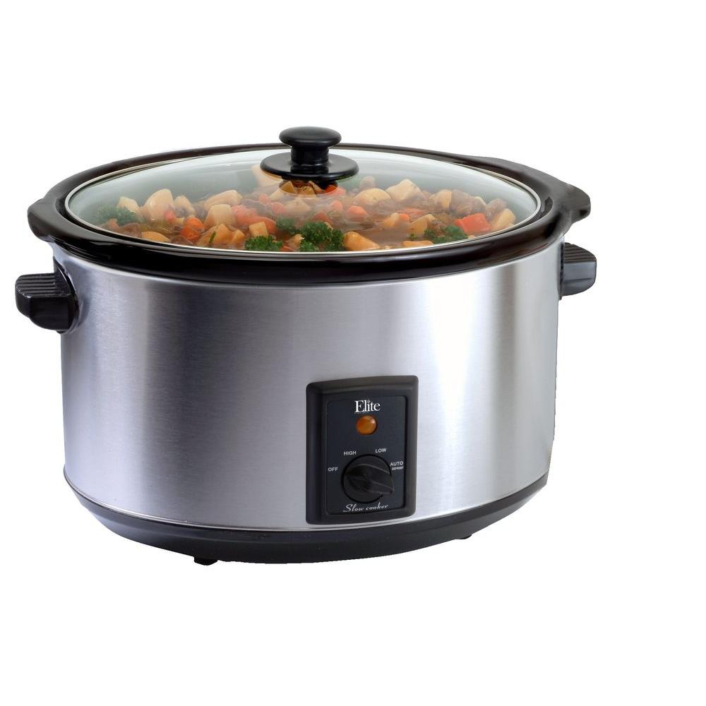 Elite 8.5 qt. Slow Cooker in Stainless Steel-DISCONTINUED
