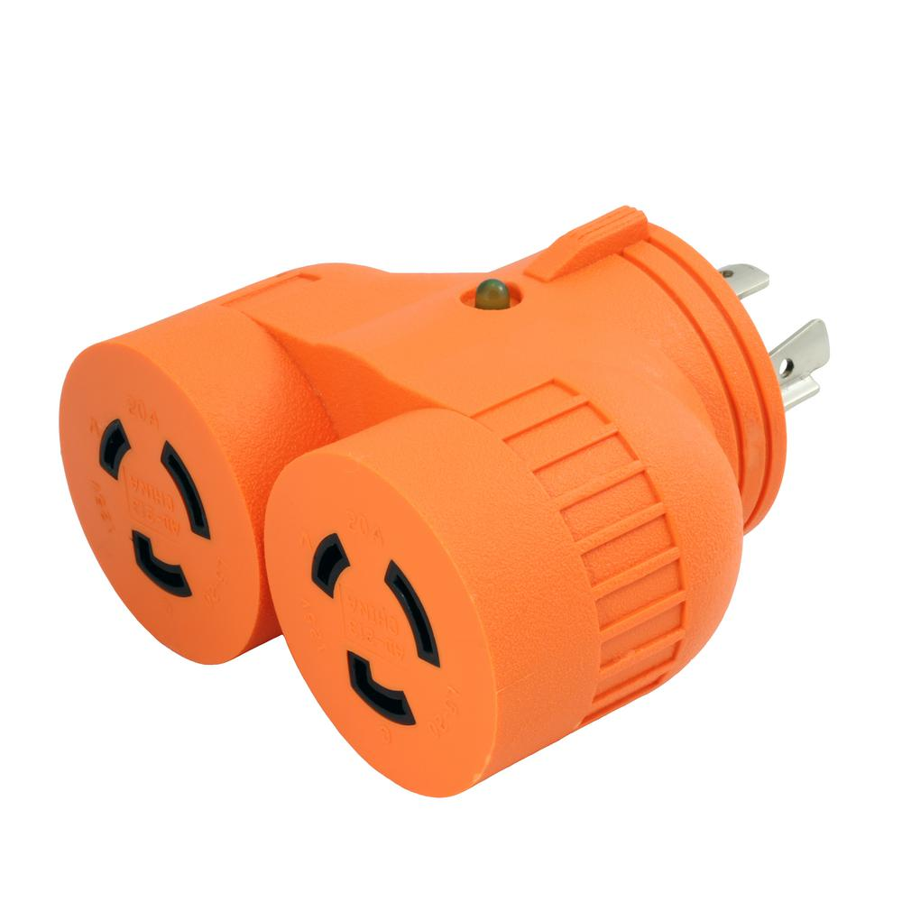 Ge 15 Amp 125 Volt Ac Grounding 3 Outlet Adapter Almond 54195 The Plug Wall Unit Wiring Generator 1 To 2 L14 20p 20 4