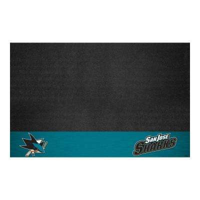 San Jose Sharks 26 in. x 42 in. Grill Mat