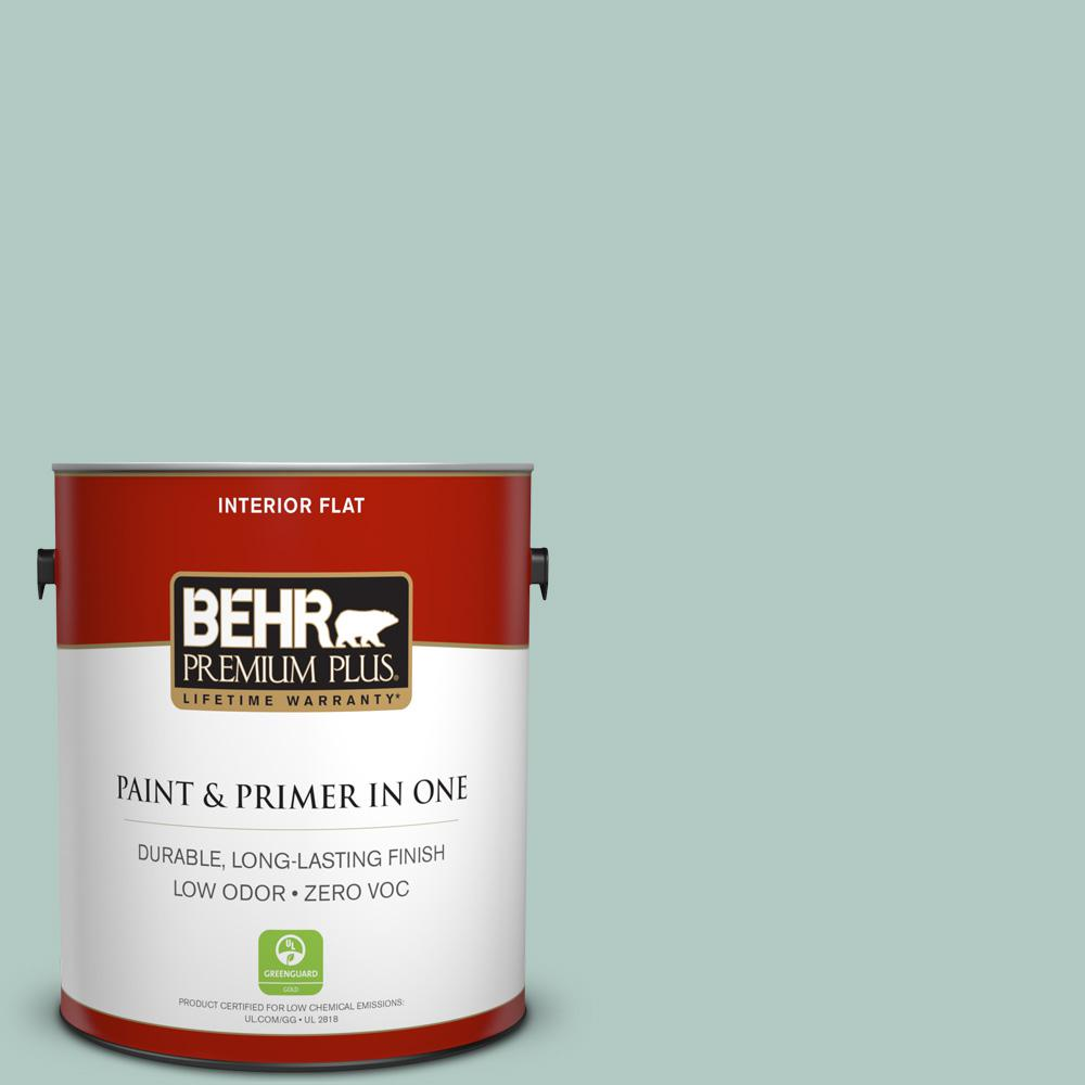BEHR Premium Plus 1-gal. #S430-2 Fresh Tone Flat Interior Paint