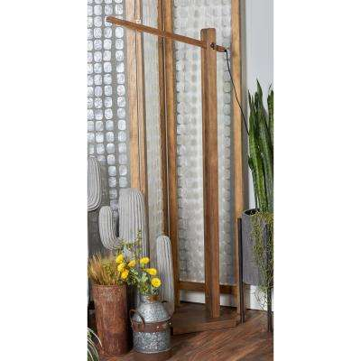 60 in. Light Brown Swiveling LED Floor Lamp