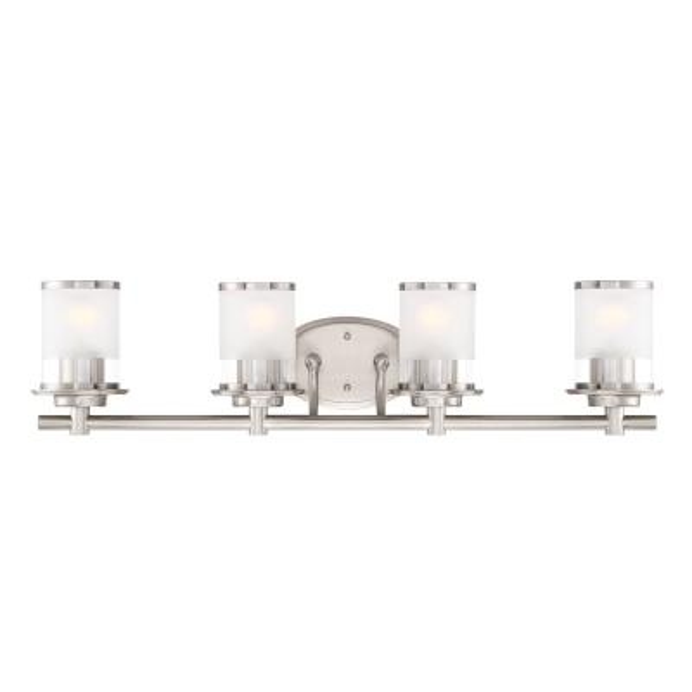 Essence 4-Light Satin Platinum Interior Bath Bar Light