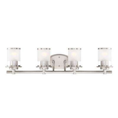 Essence 4-Light Satin Platinum Interior Bath Bar Light