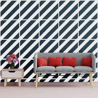 3/8 in. x 23-3/4 in. x 23-3/4 in. Large Strymon White Architectural Grade PVC Decorative Wall Panels