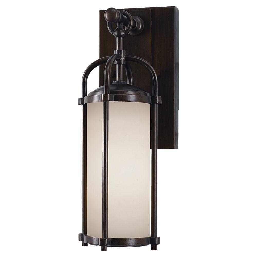 Dakota 1-Light Espresso Outdoor 13.25 in. Wall Lantern Sconce