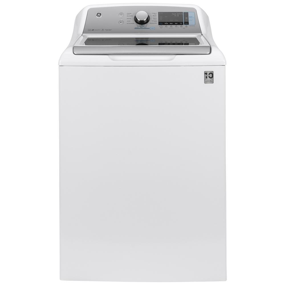 Ge 5 2 Cu Ft High Efficiency White Top Load Washing
