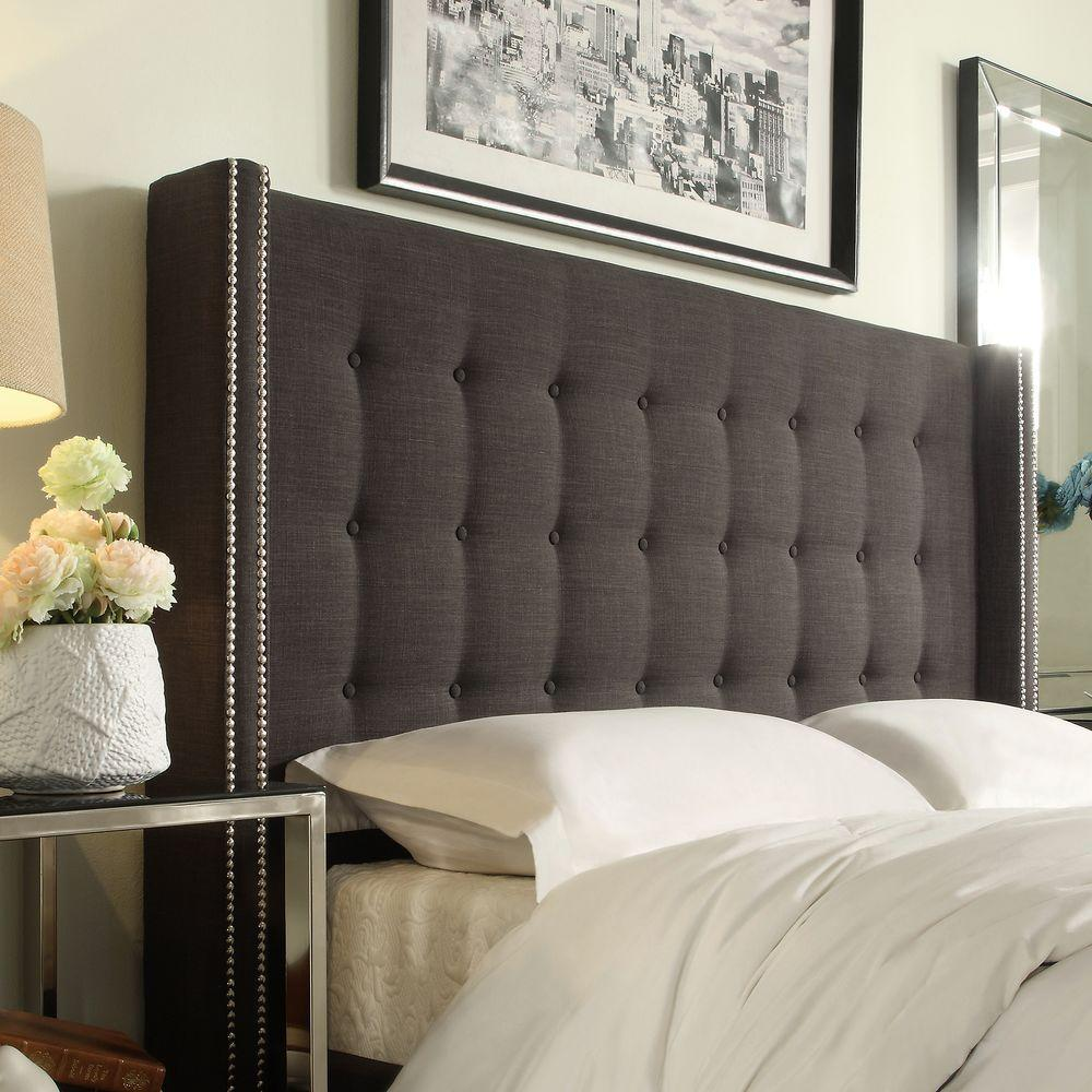 Homesullivan Franklin Park Dark Grey Queen Headboard