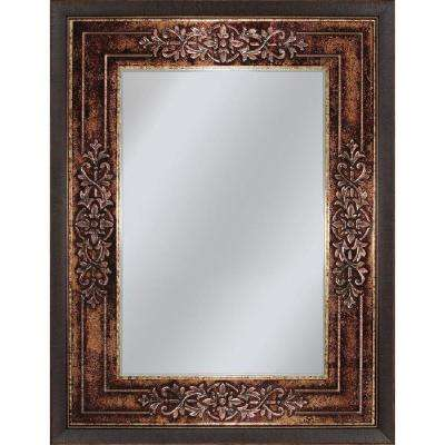 Genoa 27 in. x 33 in. Mirror in Bronze Cherry