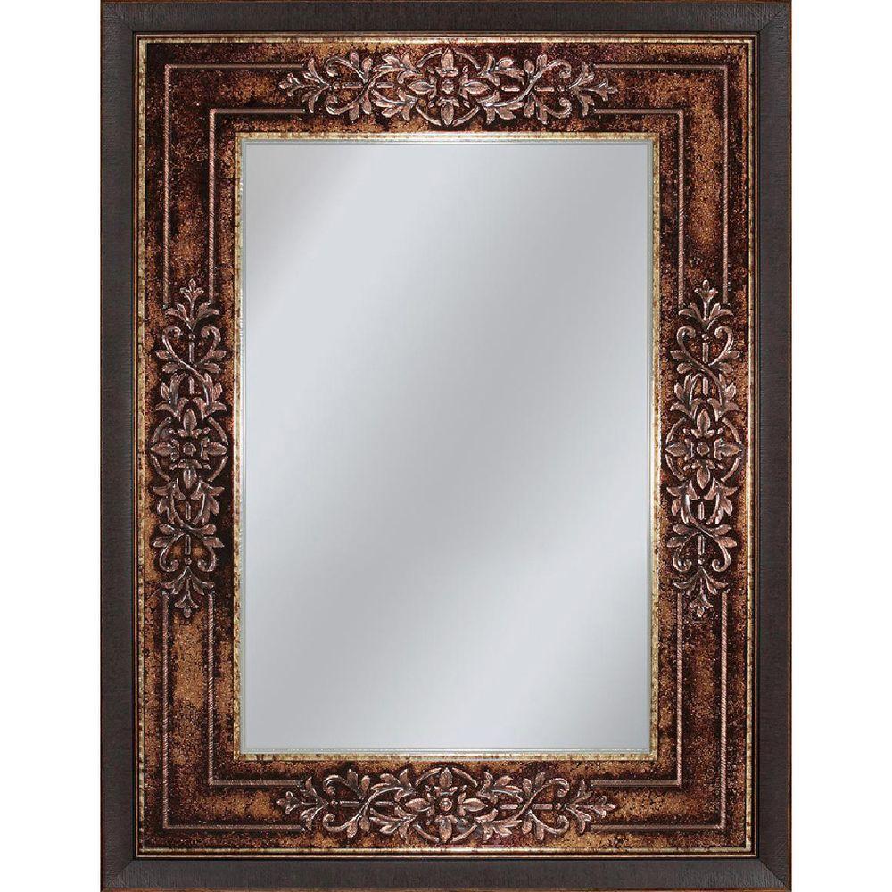 Deco Mirror Genoa 27 inch x 33 inch Mirror in Bronze Cherry by Deco Mirror