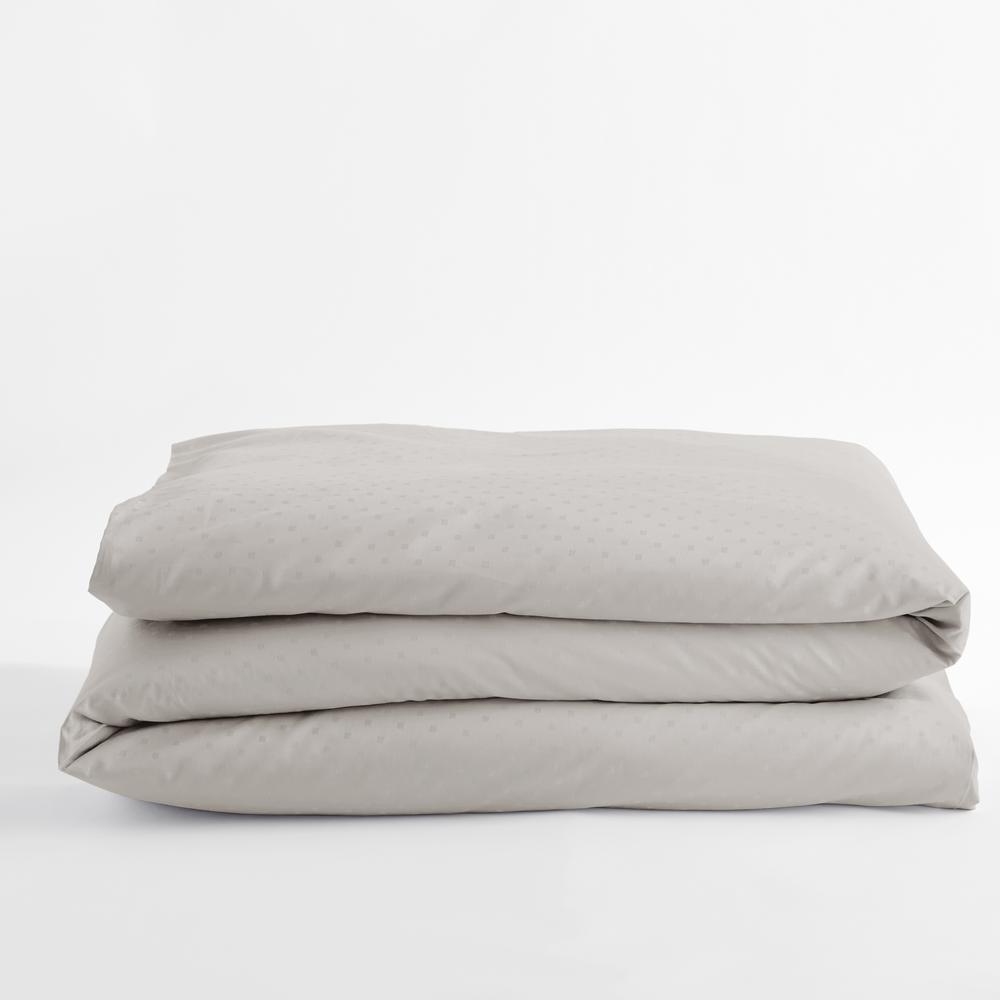 Legends Luxury Dot Sterling Gray Cotton Sateen Twin Duvet Cover