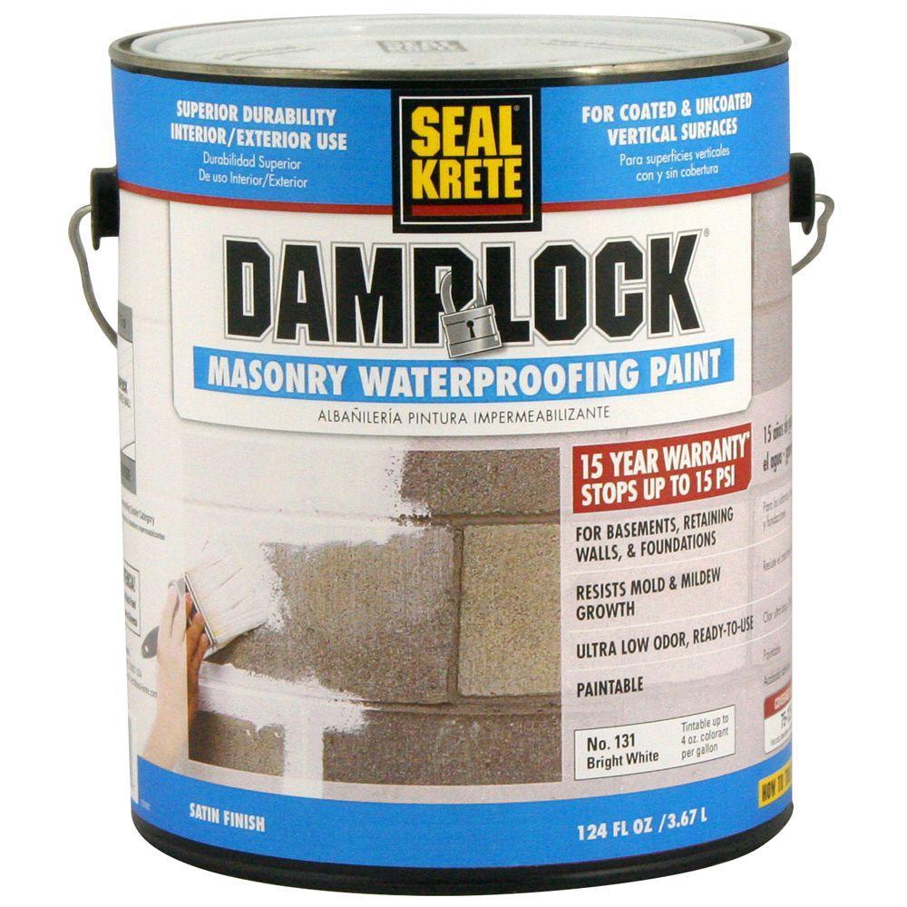 Seal Krete 1 Gal Damplock Masonry Waterproofing Paint 131001 The Home Depot