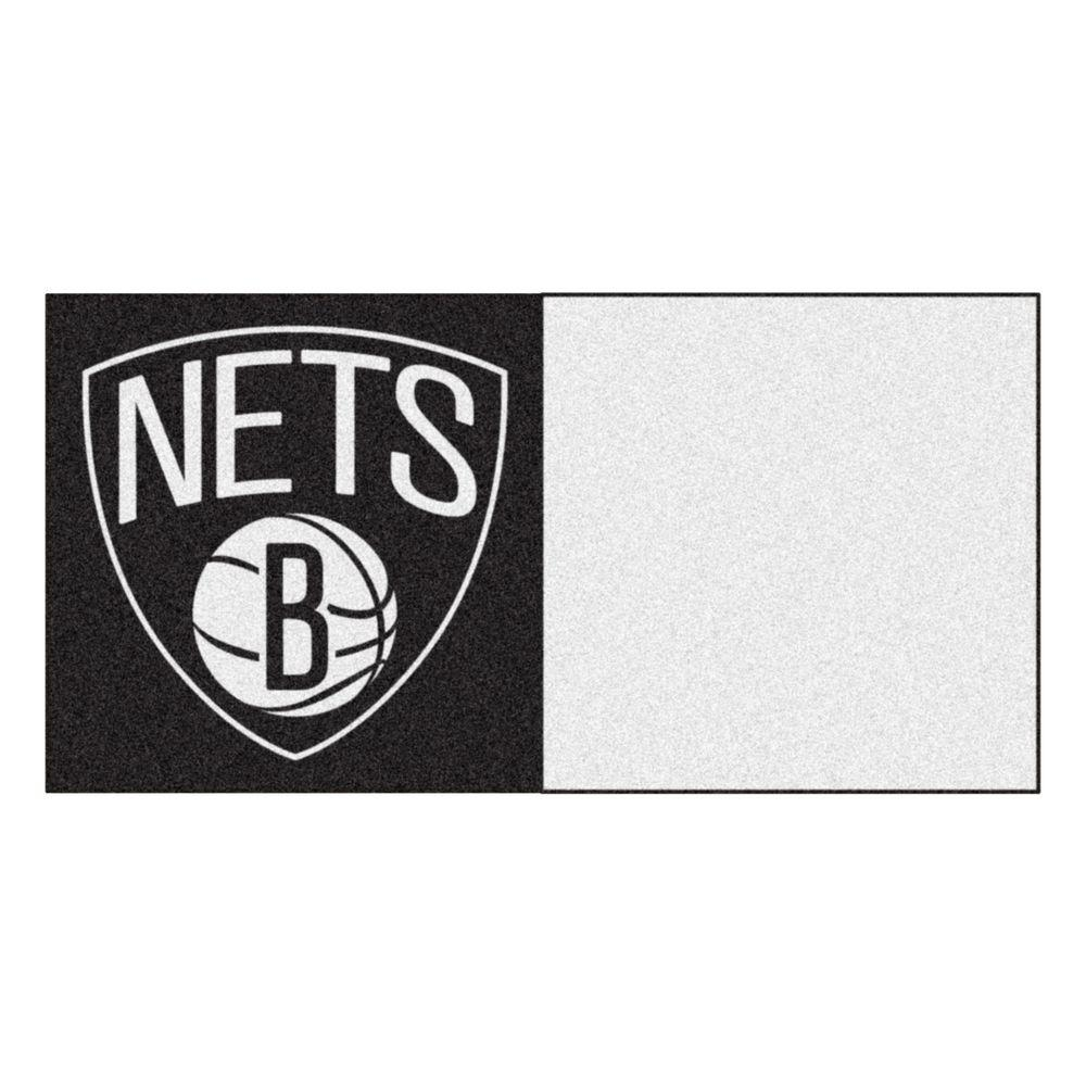 NBA Brooklyn Nets Black and White Pattern 18 in. x 18