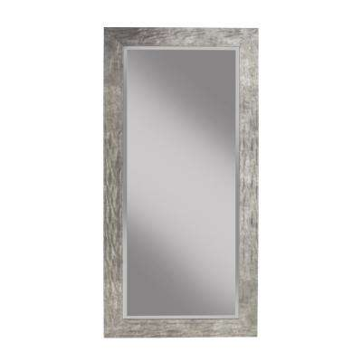 Hammered Metal Full Length Leaner Mirror