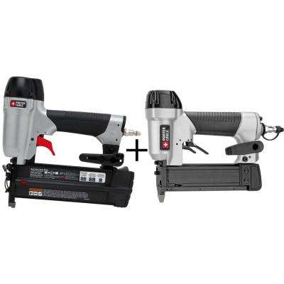 18-Gauge Pneumatic Brad Nailer Kit with Bonus 23-Gauge 1-3/8 in. Pin Nailer