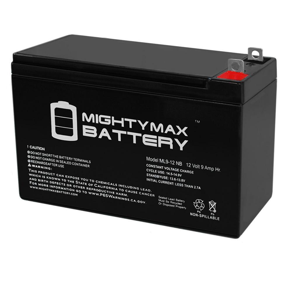 12-Volt 9 Ah NB Terminal Rechargeable Sealed Lead Acid (SLA) Battery