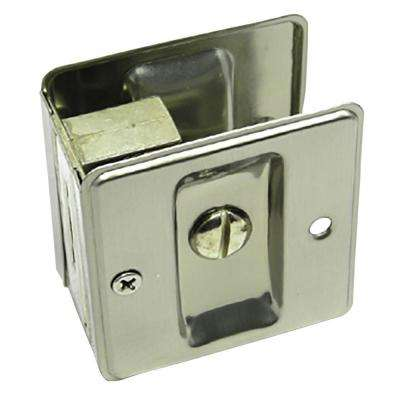 Satin Nickel Pocket Door Privacy Lock