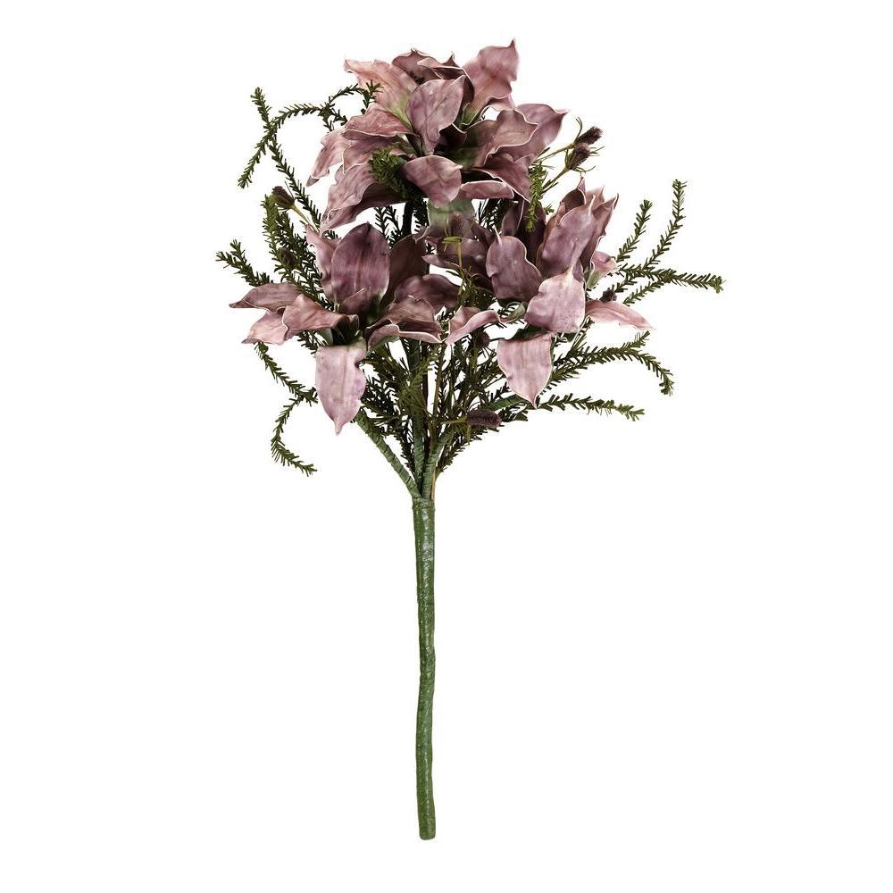 Lenor 39 in. Purple Fabric Flower Bundle