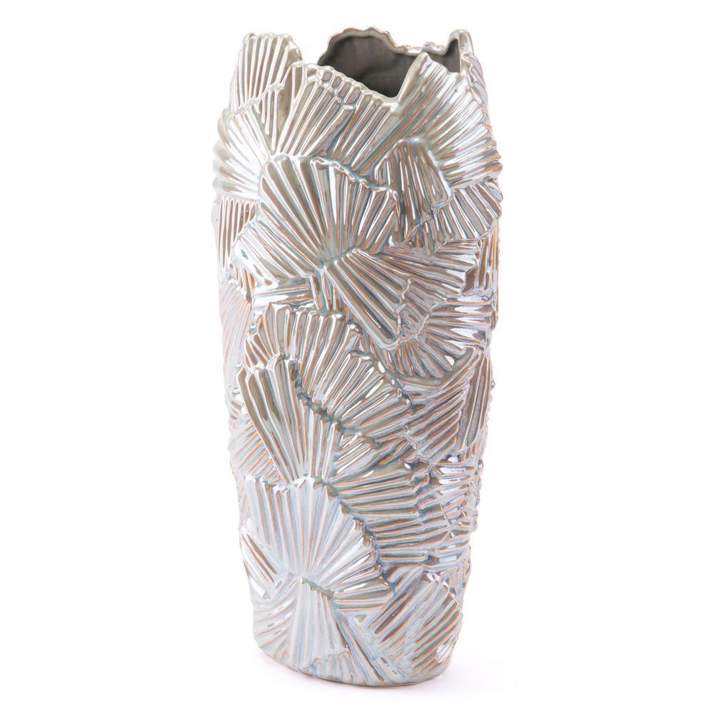 Pearl 2 Palm Tall Decorative Vase