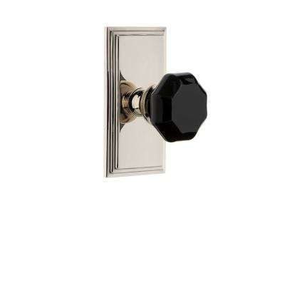 Carre' Rosette 2-3/4 in. Backset Polished Nickel Privacy Bed/Bath Lyon Door Knob