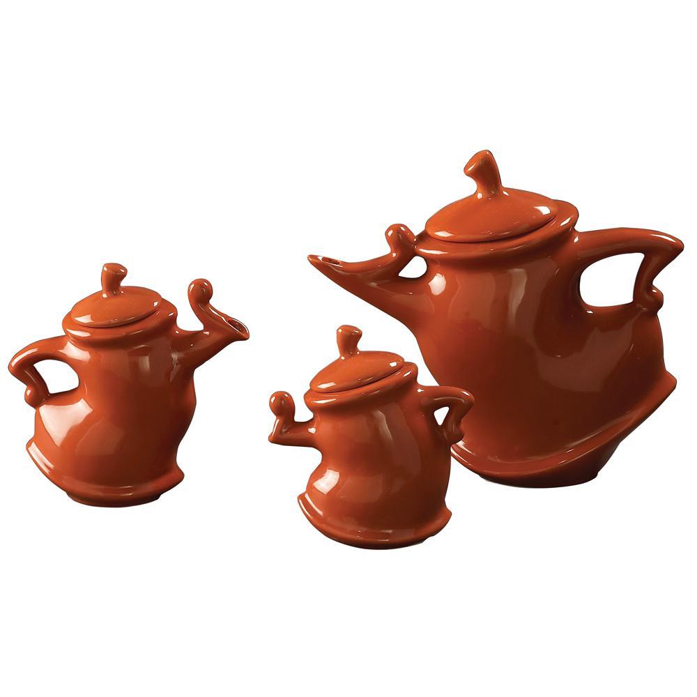 Russet Whimsical Tea Pots