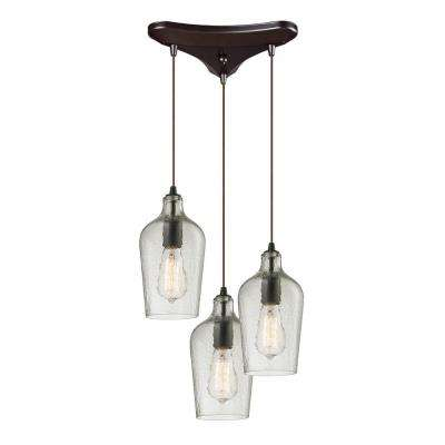 Hamrade Collection 3-Light Oil-Rubbed Bronze Mini Pendant