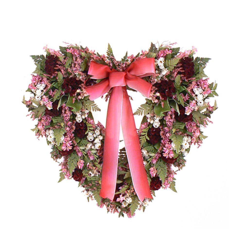 The Christmas Tree Company Cupid's Crush 18 in. Dried Floral Wreath-DISCONTINUED