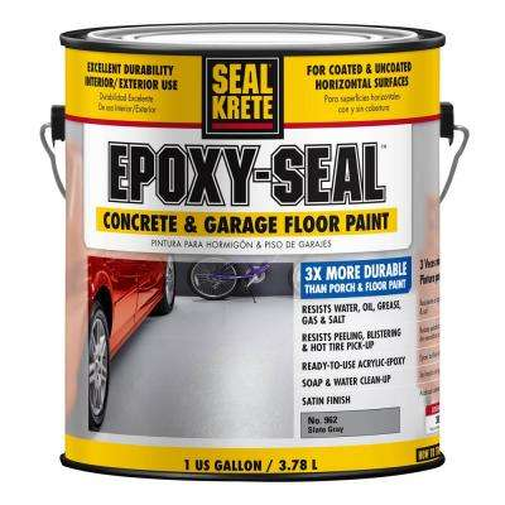 Epoxy Seal 1 gal. Low VOC Slate Gray Concrete and Garage Floor Paint