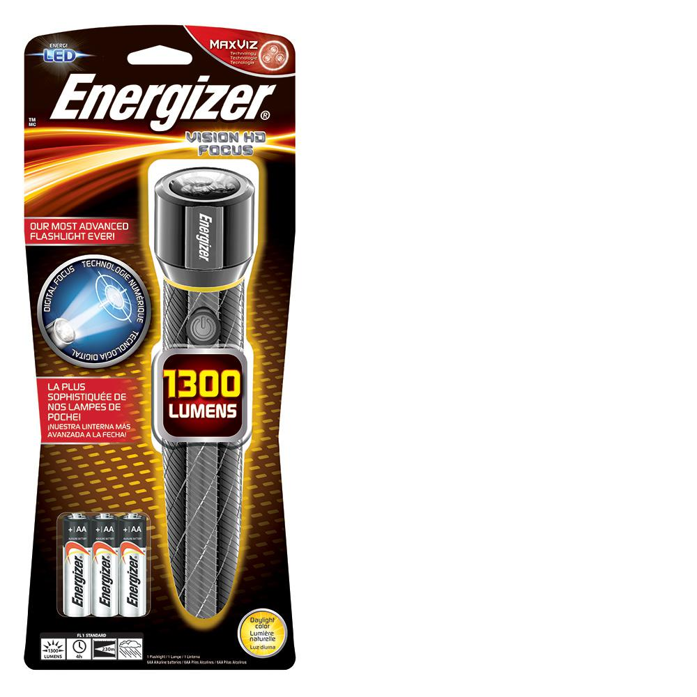 Energizer Performance Metal 1300-Lumen Light, Silver