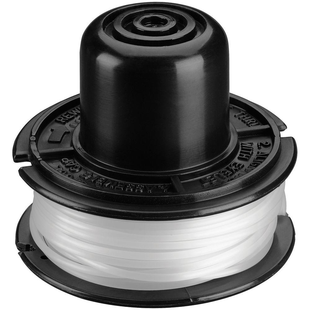 BLACK+DECKER 0.065 in. x 20 ft. Replacement Single Line Spool For Bump Feed Electric String Grass Trimmers/Lawn Edgers