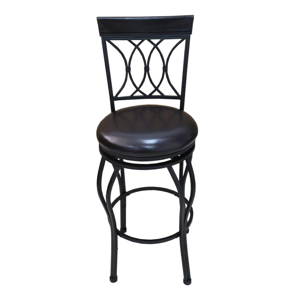 home decorators collection classic 30 in dark brown swivel cushioned bar stool cnf1543 the. Black Bedroom Furniture Sets. Home Design Ideas