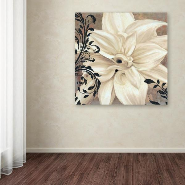 35 in. x 35 in. ''Winter White II'' by Color Bakery Printed Canvas Wall Art