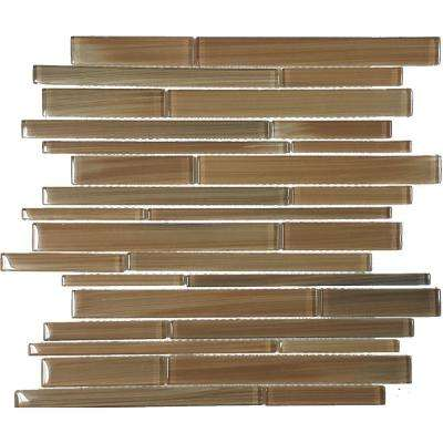 Color Blends Selva Gloss Strips Mosaic Glass 12 in. x 12 in. Mesh Mounted Tile (5 sq. ft. / case)