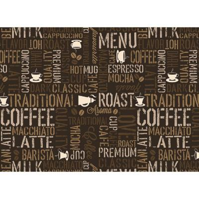 MHF Home Morning Coffee Brown 18 in. W x 13 in. L Polypropylene Placemat Set (4-Pack)