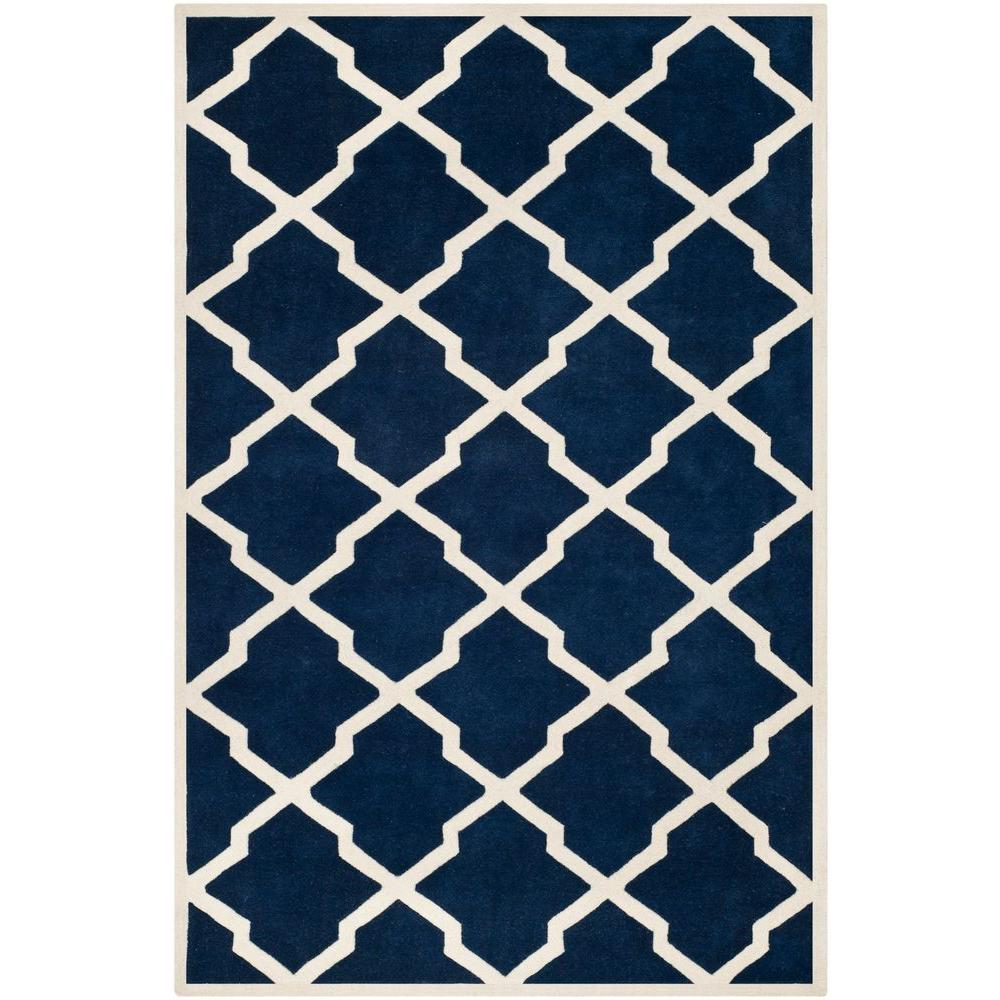 Safavieh Chatham Dark Blue/Ivory 8 ft. 9 in. x 12 ft. Area Rug