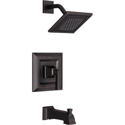 Town Square S Tub and Shower Faucet Trim Kit for Flash Rough-in Valves in Legacy Bronze (Valve Not Included)