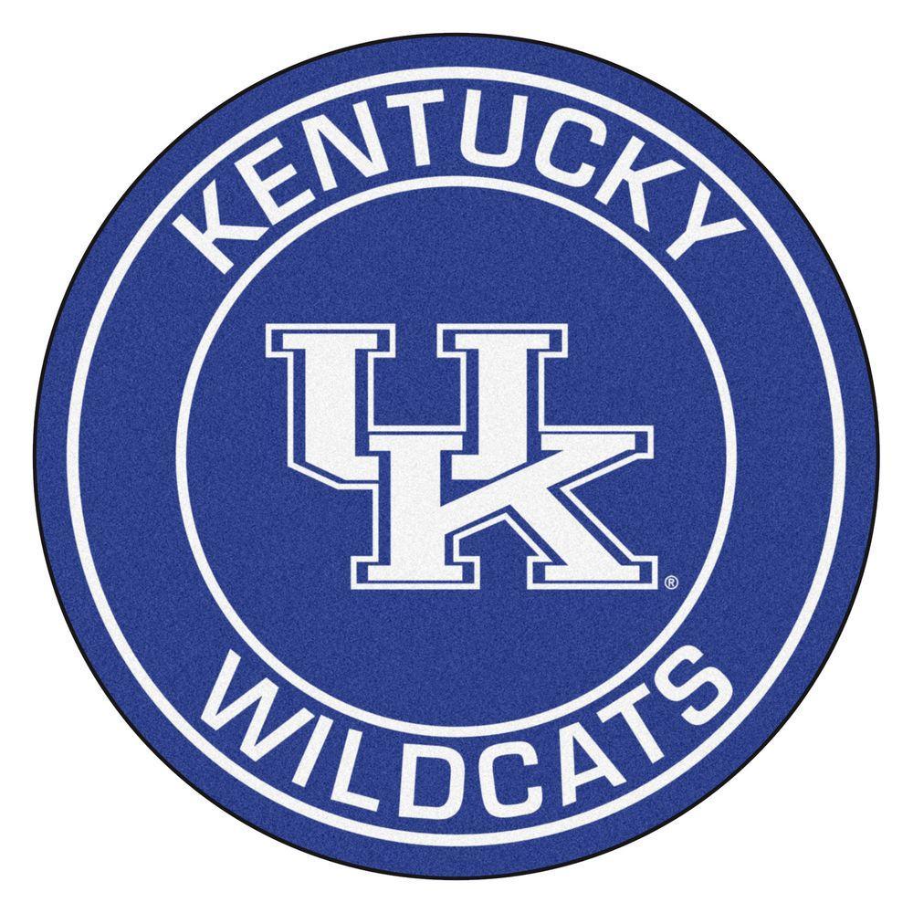 NCAA University of Kentucky Blue 2 ft. x 2 ft. Round Area Rug