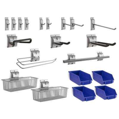 20-Piece Steel Slatwall Accessory Kit