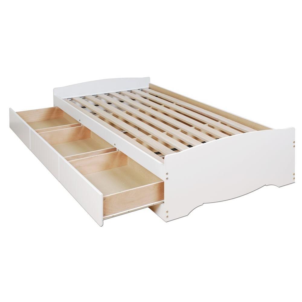 Prepac Monterey Twin Wood Kids Storage Bed WBT-4100-2K