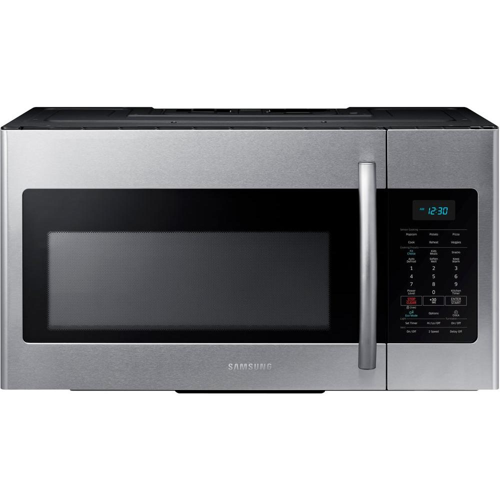 Samsung 30 in. W 1.7 cu. ft. Over the Range Microwave in Stainless Steel with Sensor Cooking