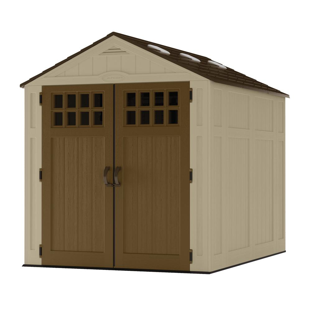 Suncast Everett 6 ft. 2.75 in. x 8 ft. 1.75 in. Resin Storage Shed