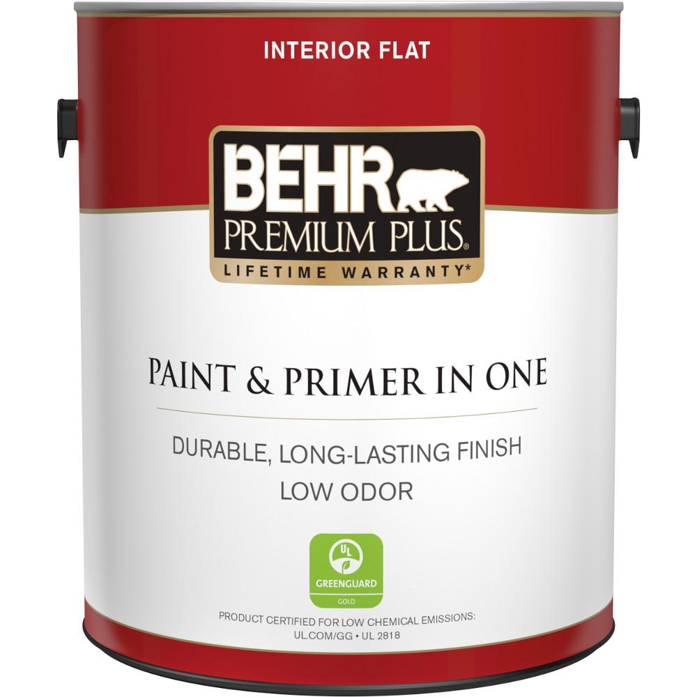 Ultra Pure White Flat Low Odor Interior Paint And Primer