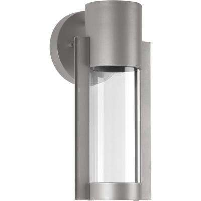 Z-1030 Collection 1-Light Metallic Gray Outdoor Integrated LED Wall Lantern