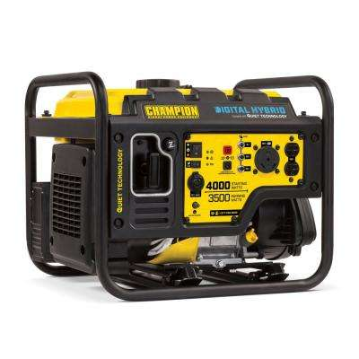 DH Series 4000-Watt Gasoline Powered Recoil Start Open Frame Inverter Generator with 224cc Engine