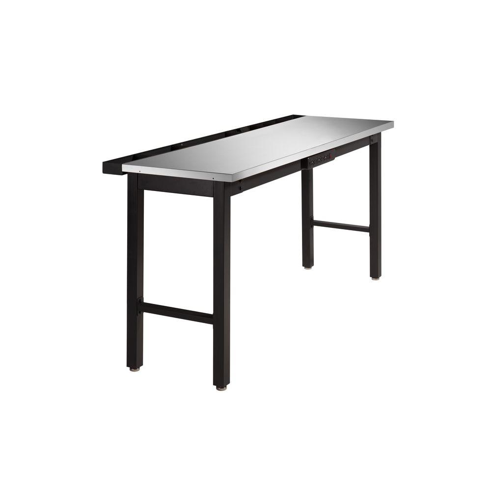 NewAge Products 36 in. H x 24 in. D x 72 in. W Metal Workbench with Stainless Steel Top