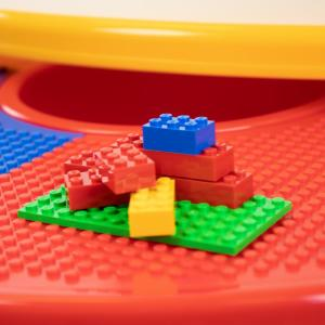 Primary 2 In 1 Plastic Lego Compatible Kids Activity Table And 2 Chairs Set
